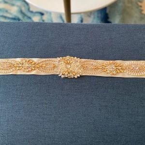 Bridal Sash , this can be sewn onto any dress